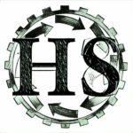 logo hacking social griffonné